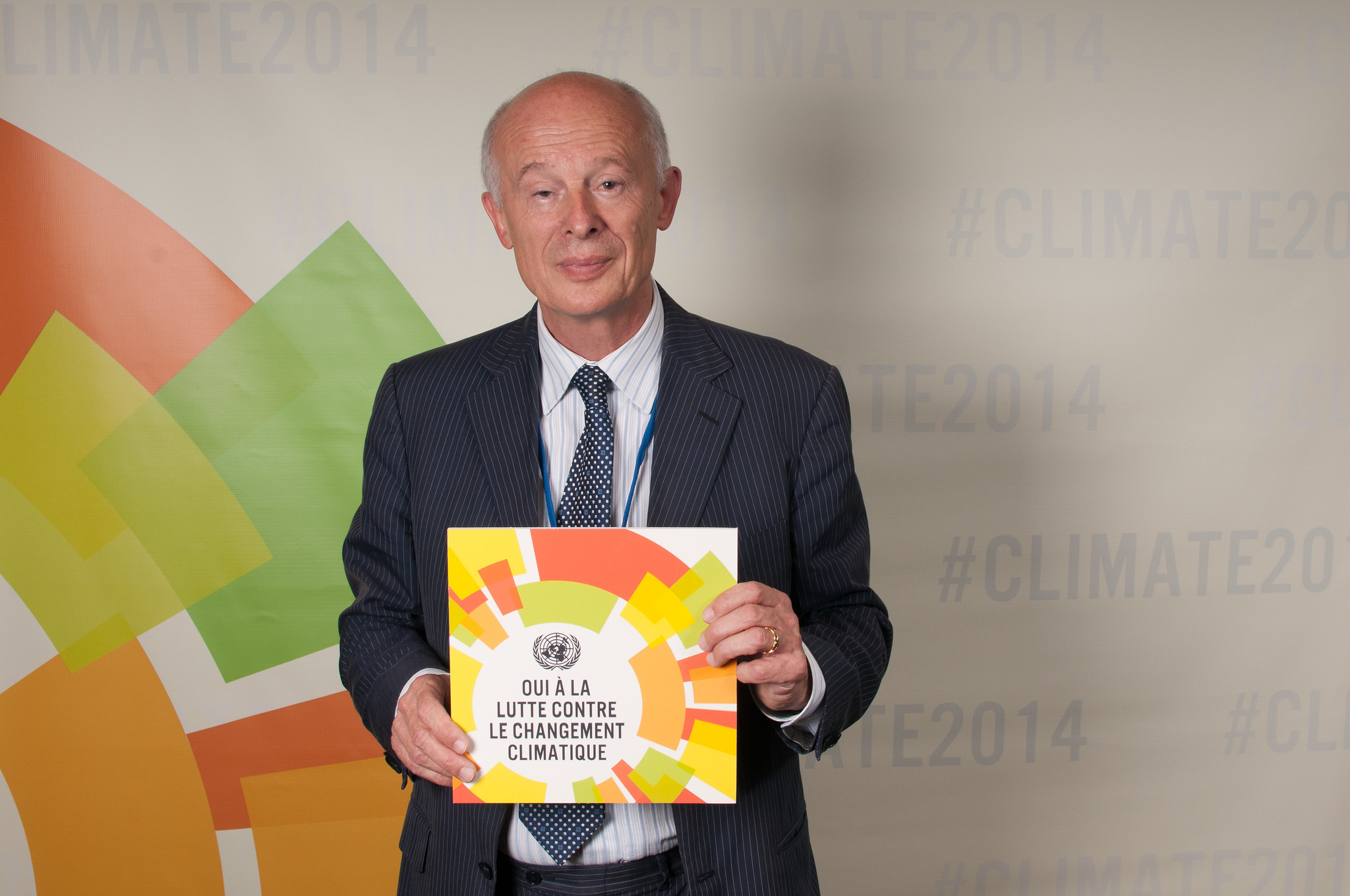 For Prof. Schellnhuber, climate change cuts across all of Europe's future challenges. Image credit - Simon Ruf / UN Social Media Team