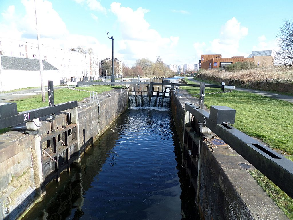 The smart canal scheme aims to turn North Glasgow into a 'sponge city', meaning it can respond flexibly to surface water flooding. Credit: Rosser1954 under the Creative Commons Attribution-Share Alike 4.0 International license.