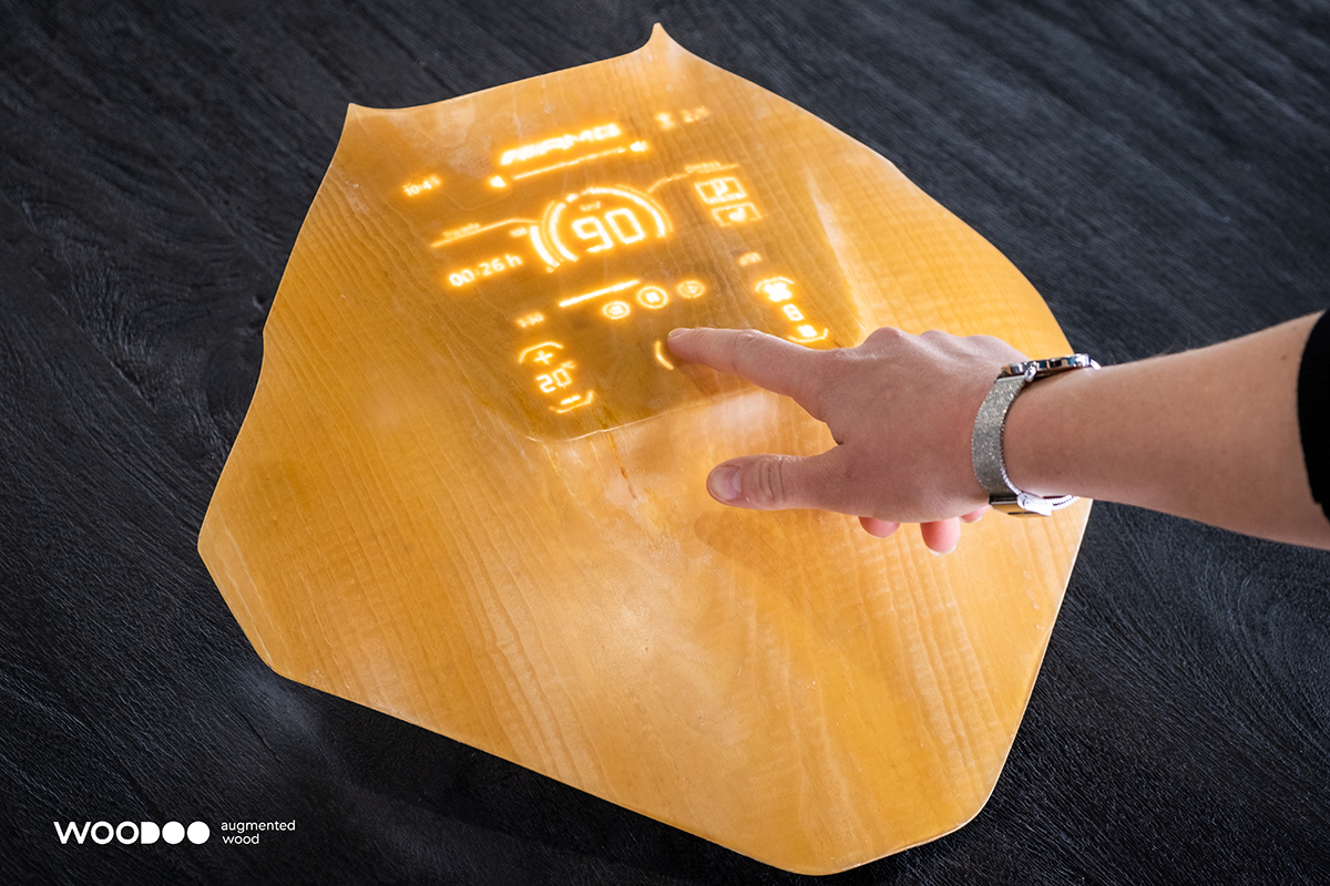 Integrating electronics into touch-sensitive wood could pave the way for interactive wooden dashboards in cars. Image credit - Woodoo