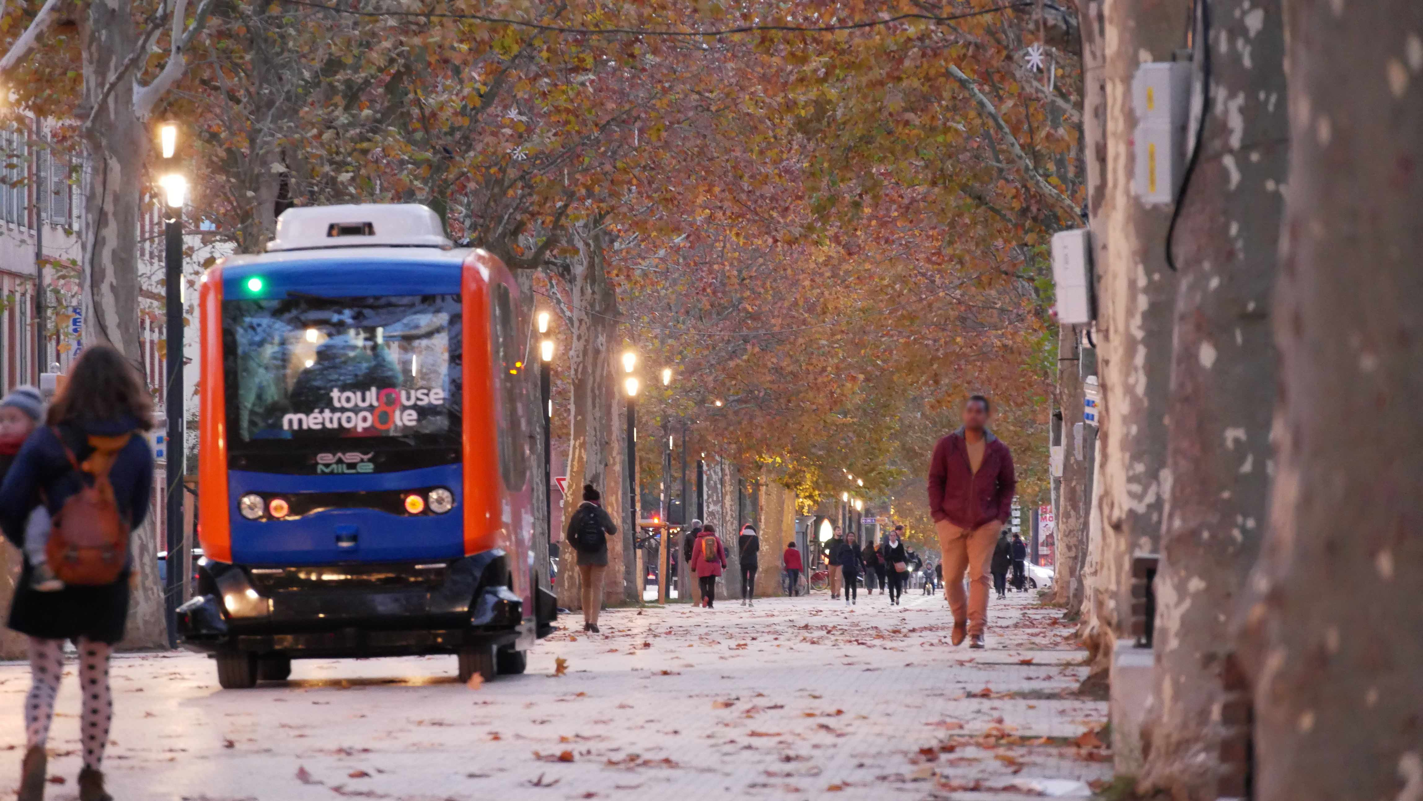 Toulouse's driverless autonomous shuttle was created by a local start-up. Image credit - ©EasyMile