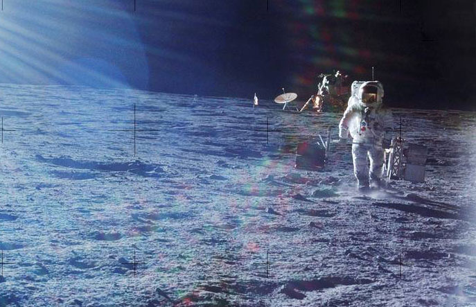 在1969年至1972年之间,总共将五台地震仪手动放置在月球上,其中包括一台由阿波罗12号宇航员艾伦·比恩(Alan Bean)于1969年定位的月球。图片来源-NASA