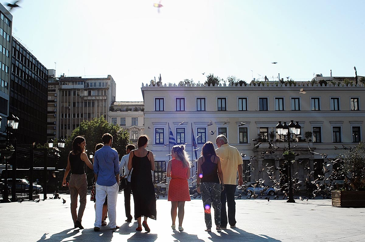The Athenian project Curing the Limbo connects local citizens with refugees. Image credit - Athens City Council