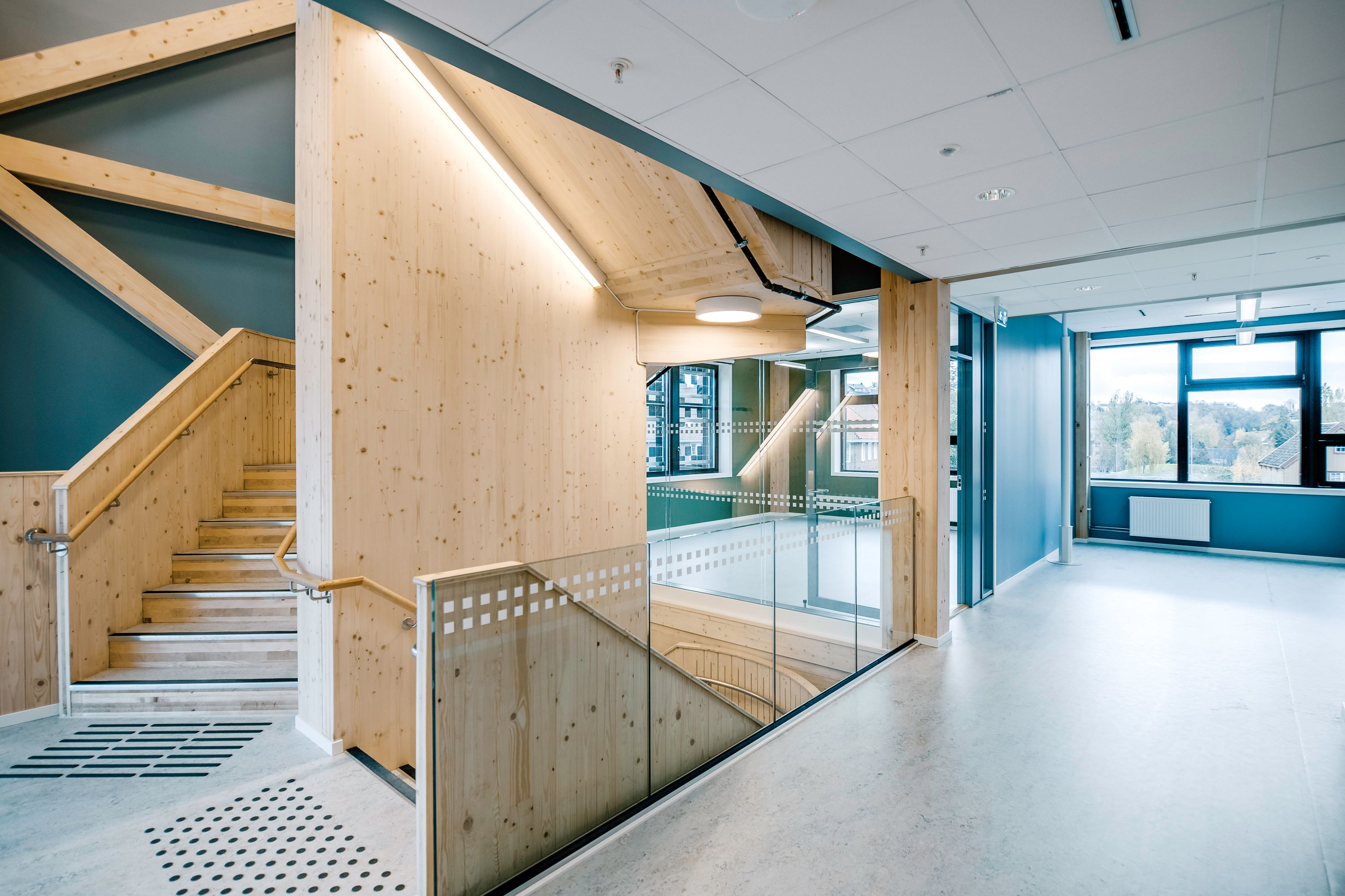 Wooden components such as beams, floors, ceilings and cladding in buildings can help increase the amount of carbon stored in the structure. Image credit - Nicola Lolli/NERO