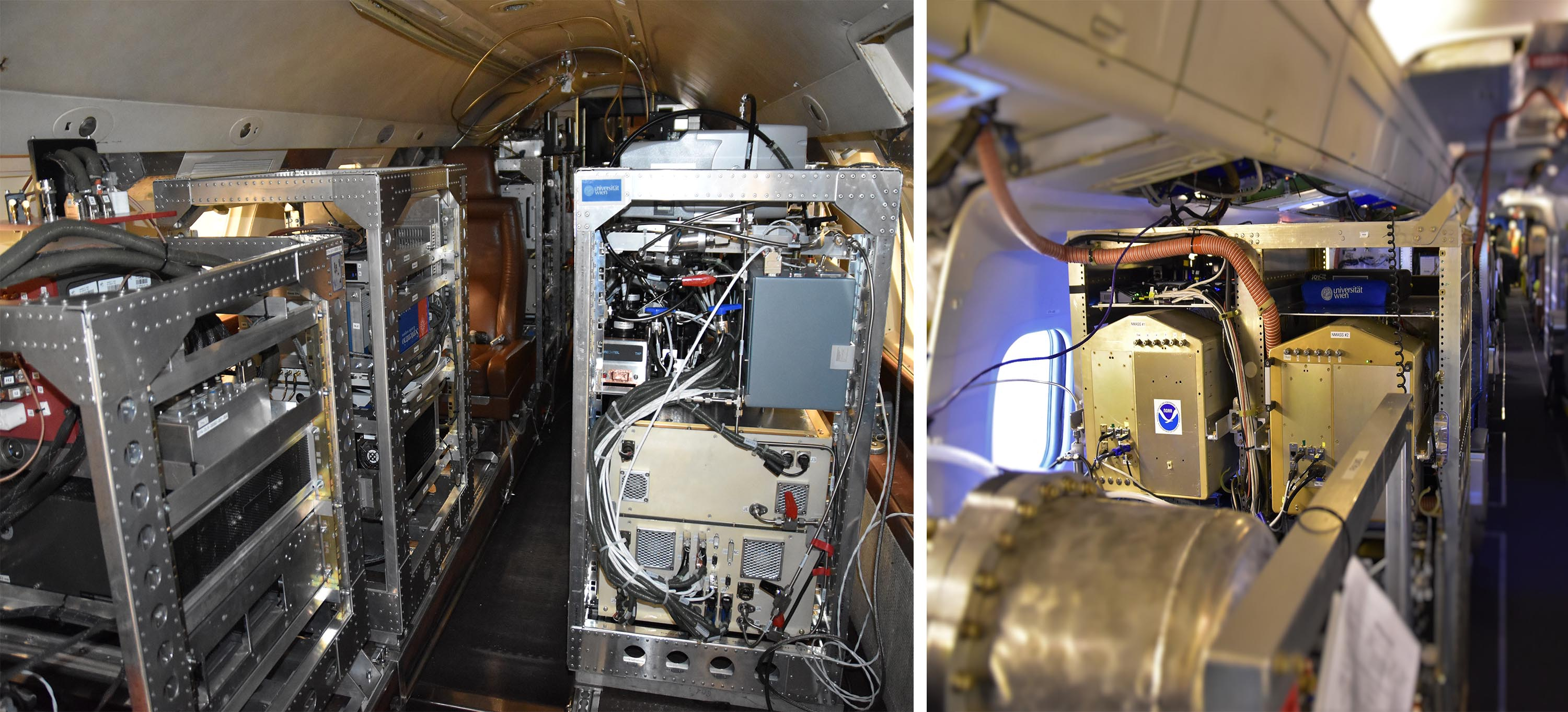 Specialised instruments aboard research planes mean scientists can collect air samples at different altitudes for analysis. Image credit - Bernadett Weinzierl