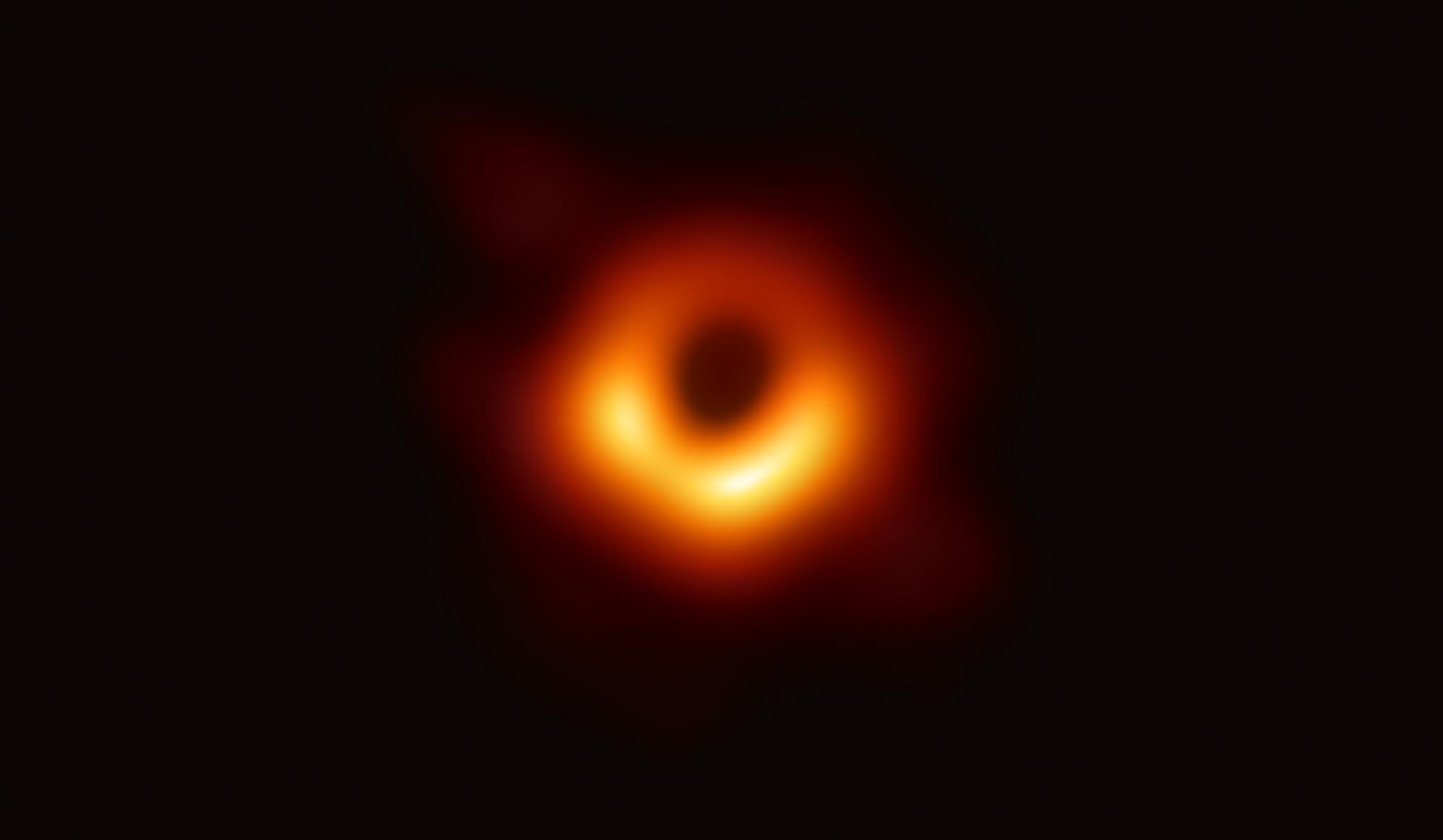 M87's supermassive black hole, imaged for the first time, is six billion times as massive as our sun. Image credit - EHT Collaboration