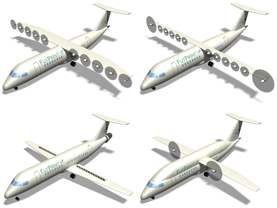 The FutPrInt50 project are exploring different concepts for hybrid aircraft design. Image credit - University of Stuttgart