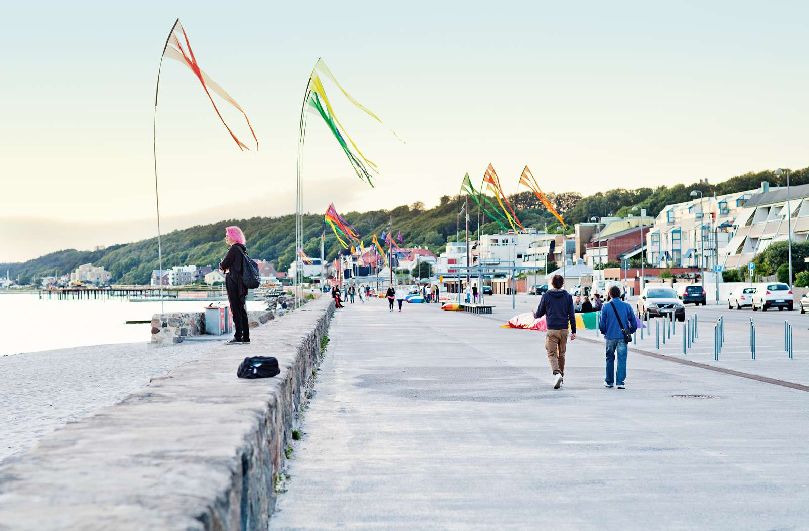 The seaside walking path Strandpromenaden to the north of the city centre is home to sandy beaches and colourful flags. Image credit - Anna Alexander Olsson