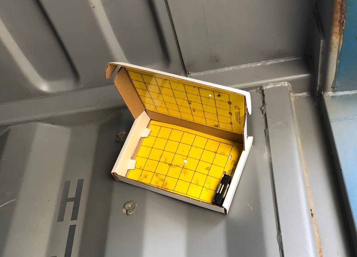 Light traps placed in shipping containers can help capture novel insects on arrival in Europe. Image credit: Matteo Marchioro