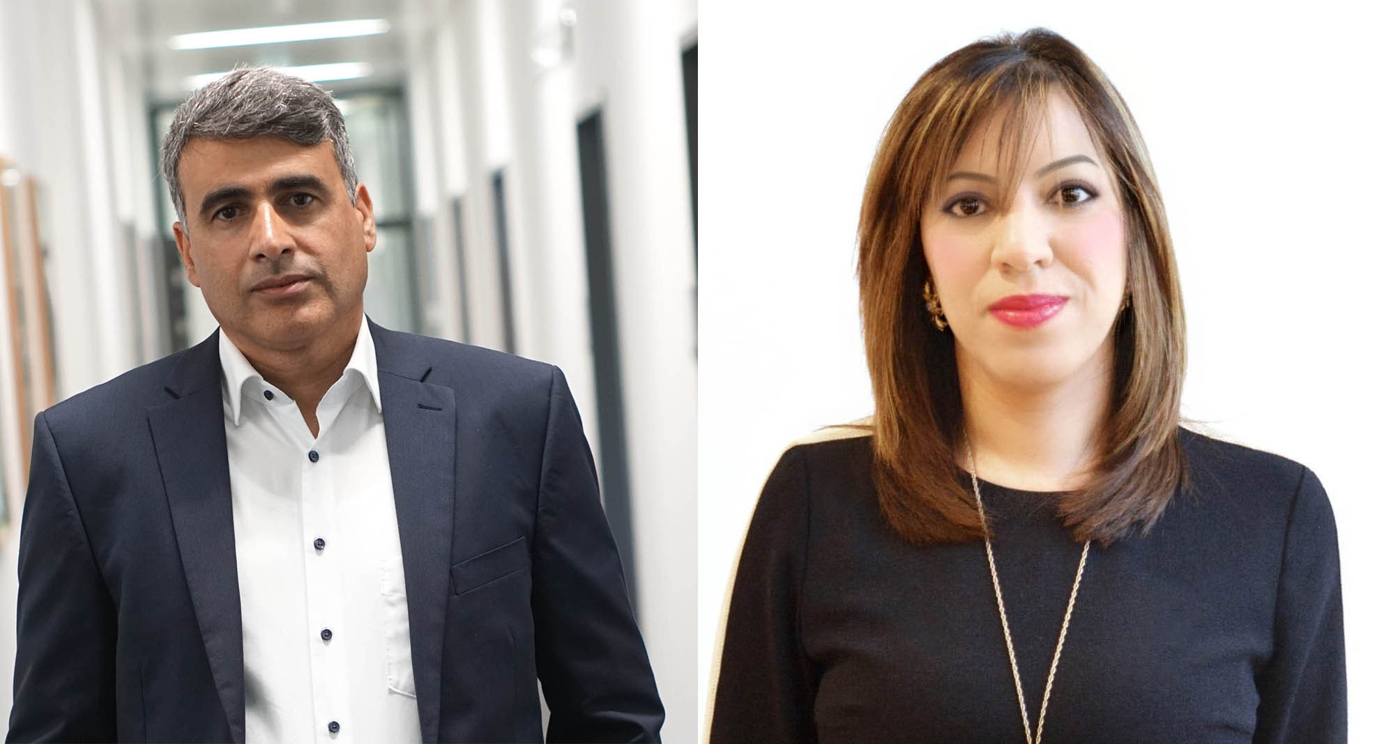 Academics like Dr Al Ajlan and Dr Mathbout can find it hard to prove their expertise and qualifications when they arrive in new countries as refugees. Image credit left - Dr Al Ajlan, Image credit right - Dr Mathbout