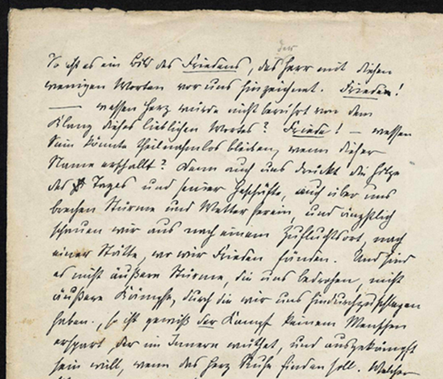A handwritten sermon by Heinrich Bassermann from 17 November 1871 is one example of a document that can be digitised with the AI-based software. Image credit - Universitätsbibliothek Heidelberg/licenced under CC-BY-SA 4.0