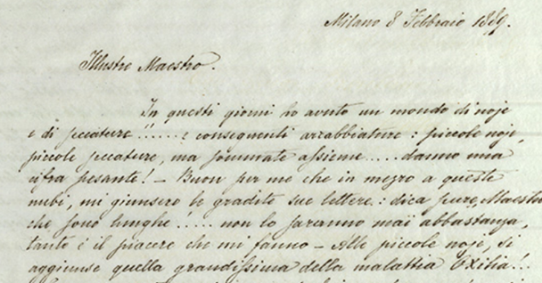 Once the software has been trained to recognise a particular person's handwriting - such as this letter written in 1889 by Giulio Ricordi, the general manager of the Ricordi publishing house - then it can automatically transcribe other documents from the same author. Image credit - Archivio Storico Ricordi, Milan