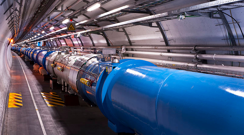 Scientists at CERN's Large Hadron Collider (LHC), the largest particle accelerator in the world, are searching for dark matter by smashing atoms together.