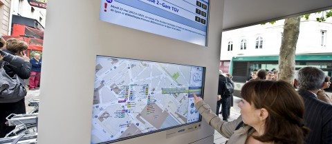 Touchscreen at the remodeled Gare de Lyon-Diderot in Paris. © RATP-Denis Sutton