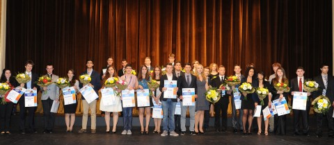 The EUCYS 2012 competition winners.