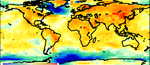 Researchers have estimated the five-year mean forecast from November 2014 and found that the global average temperature is expected to remain high, with specific regions varying between one-and-a-half degrees cooler to one-and-a-half degrees warmer. This work was supported by the Joint DECC/Defra Met Office Hadley Centre Climate Programme (GA01101).