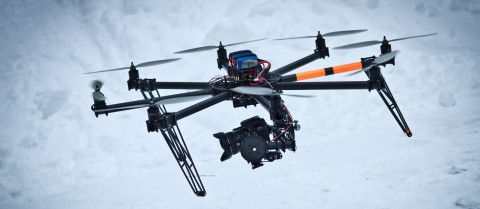 Researchers are looking for ways to connect drones together in swarms to capture sports events. Image credit — Flickr/ Ville Hyvönen