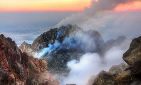 Findings about the effect of a volcano's age on its likelihood to erupt will be applied to the Merapi volcano in Indonesia, among others. Image credit - Jimmy McIntyre, licensed under CC BY-SA 2.0