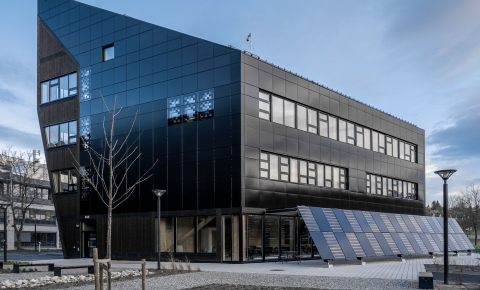Wooden structures such as the ZEB Lab building in Trondheim, Norway, could dramatically reduce the carbon footprint of construction but they remain the exception in most countries. Image credit - Kouvola Innovation Oy/NERO project