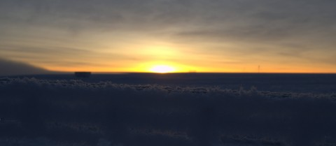 The sun rises over Antarctica. © ESA