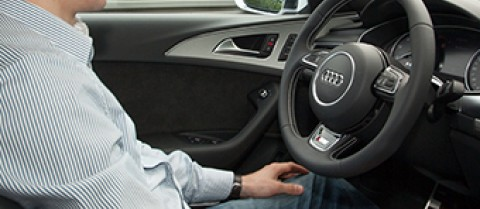 Engineers working on seven different car models, including Audi, have already automated many manoeuvres, although these still require human supervision. Image courtesy of AdaptIVe