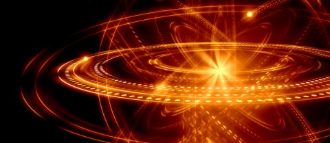 Image of atoms and electrons. © Shutterstock/ Sergey Nivens