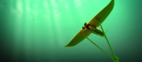 An underwater kite could harness tidal energy to use on land. Image courtesy of Minesto