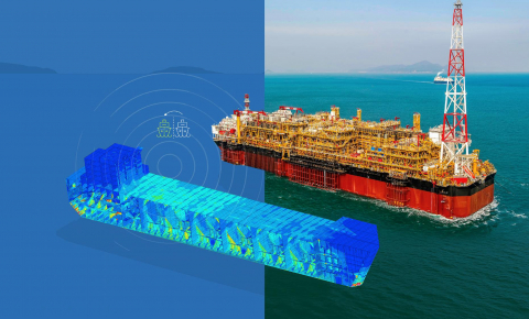 Digital replicas of infrastructure such as oil platforms could help prevent accidents by spotting potential ruptures before they happen. Image credit - Akselos