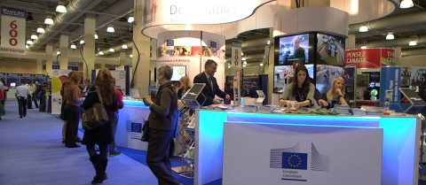 The EU stand at the AAAS 2013 in Boston. © Horizon Magazine
