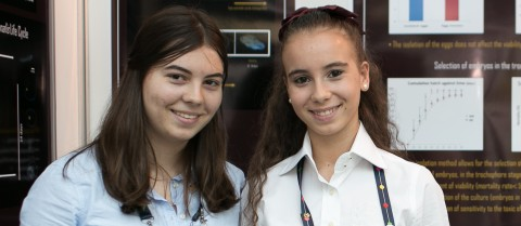 EUCYS 2014 winners Mariana De Pinho Garcia and Matilde Gonçalves Moreira da Silva were also selected to attend the London International Youth Science Forum in 2015.