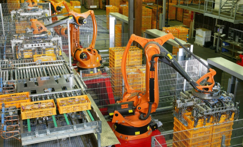 Robots can already take over some repetitive tasks from human workers, now research focuses on more interaction between the two. Image credit - 	KUKA Roboter GmbH, Bachmann, the image is in the public domain