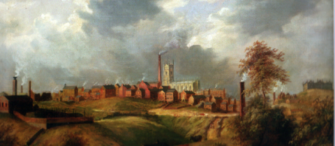The textile industry drove the industrial revolution in Britain. Image credit: Public domain/ James Howe Carse