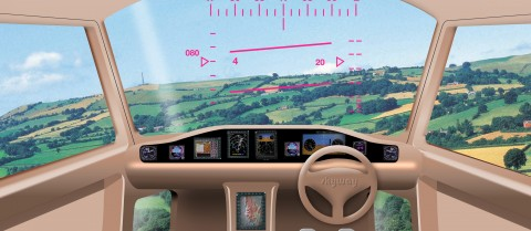 An artist's impression of the cockpit of a personal helicopter system of the future. © Gareth Padfield, Flight Stability and Control