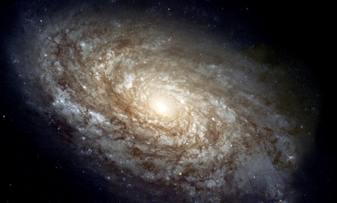 Cosmic dust is too cold to be captured by optical telescopes, so visual images of galaxies don't give the full story of conditions. Image credit - The Hubble Heritage team, picture is in the public domain