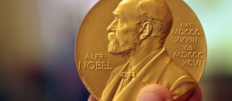 Nobel Prizes are awarded in physics, chemistry, physiology or medicine, literature and peace. Image credit: Flickr/ Adam Baker