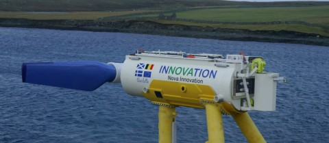 The sea's movements can be utilised to create electricity through underwater turbines. Image credit - Nova Innovation/ EnFAIT