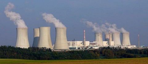Nuclear power is one way to lower carbon emissions but there are issues around public acceptance of the technology. Image credit: 'Nuclear.power.plant.Dukovany' is in the public domain
