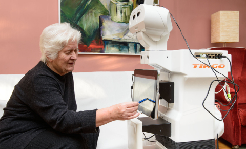 Sensors placed throughout a retirement home helped the ENRICHME robot to keep track of the movements and activities of residents taking part in the project's trial. Image credit - ENRICHME