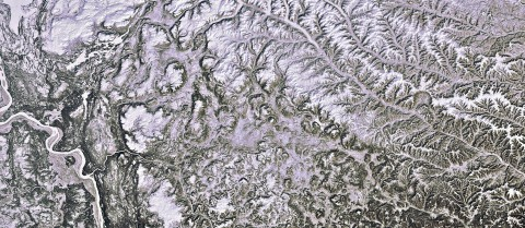 North central Siberia is captured in this image. On the left is the Yenisei river, which flows north into the Kara Sea (not shown). The majority of the area pictured lies above the Arctic Circle. This is an area of continuous permafrost, where the soil is at or below freezing throughout the year. From space, the satellite is able to capture changes in the soil moisture, surface temperature, and land cover. Image: ESA