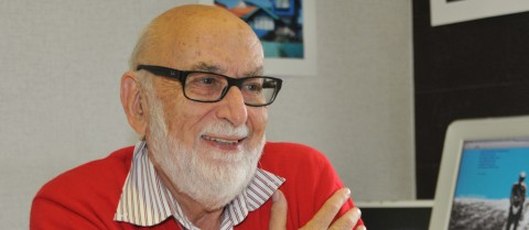 Professor François Englert won the Nobel Prize in Physics 2013 along with Professor Peter Higgs. Image: ULB