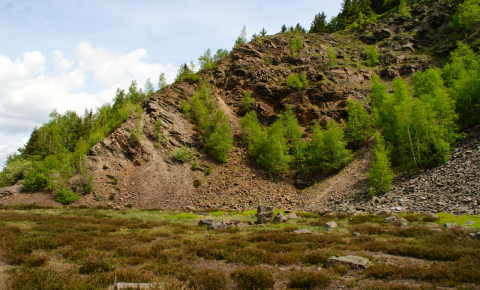 Magnetic fields are among the techniques being developed to extract metal particles from slags (stony waste matter). Image credit - Slag heap at Rammelsberg / Goslar by B.Nunold is licensed under CC BY-SA 4.0