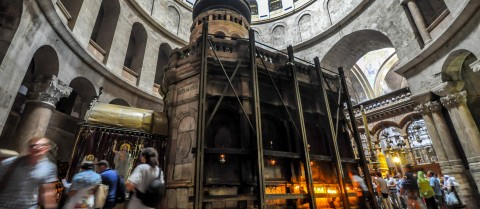 The Holy Aedicule in the Church of the Holy Sepulchre in Jerusalem was restored with the help of a high-resolution 3D model. Image credit - Flickr/Jorge Láscar, licensed under CC BY 2.0