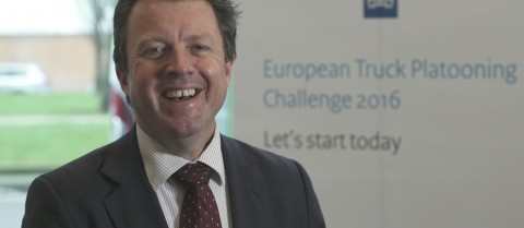 Steve Phillips is the secretary general of the Conference of European Directors of Roads (CEDR), which helped organise a truck platoon challenge that ended in Rotterdam on 6 April. Photo courtesy of Steve Phillips
