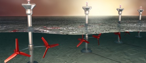 An illustration of tidal energy generation. © Shutterstock/ Alex Mit