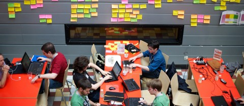 Hackathons are events where people collaborate to develop new software. Image credit – Flickr/ Sebastiaaan ter Burg