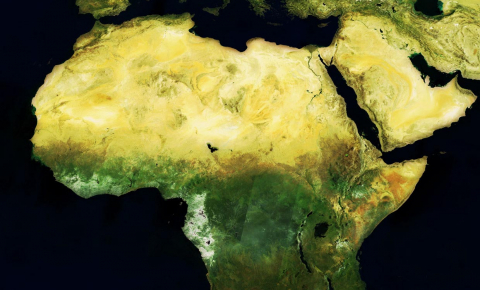 Complex Earth observation data is being turned into real-time tools to help solve problems on the ground in Africa. Image credit - MERIS mosaic of Africa, May 2004 by ESA is licensed under CC BY-SA 3.0 IGO