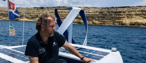 Jérôme Delafosse hopes that hydrogen will replace many of the fossil fuels we use today. Image credit - Energy Observer
