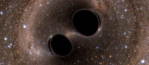 Gravitational waves produced by the merger of two black holes have been confirmed at the Laser Interferometer Gravitational-Wave Observatory (LIGO). Image credit: Caltech/MIT/LIGO Laboratory