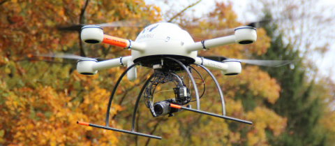 Drones can detect landmines faster than people with metal detectors. Image courtesy of TIRAMISU