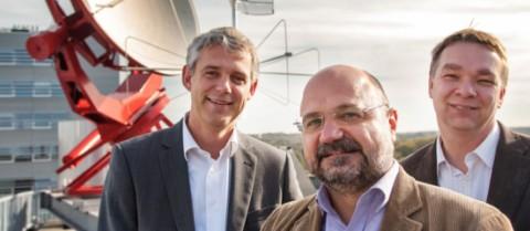 Astrophysicists Heino Falcke, Luciano Rezzolla and Michael Kramer. © Dick van Aalst, Radboud University Nijmegen