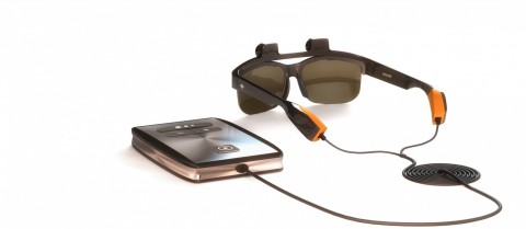 Glasses with special cameras could enable blind or visually impaired people to build a picture of the world around them. Image credit - Eyesynth